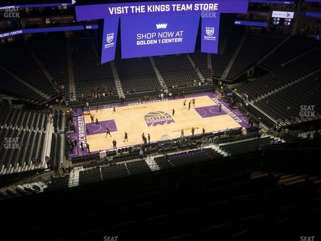 Golden 1 Center Section 206 view