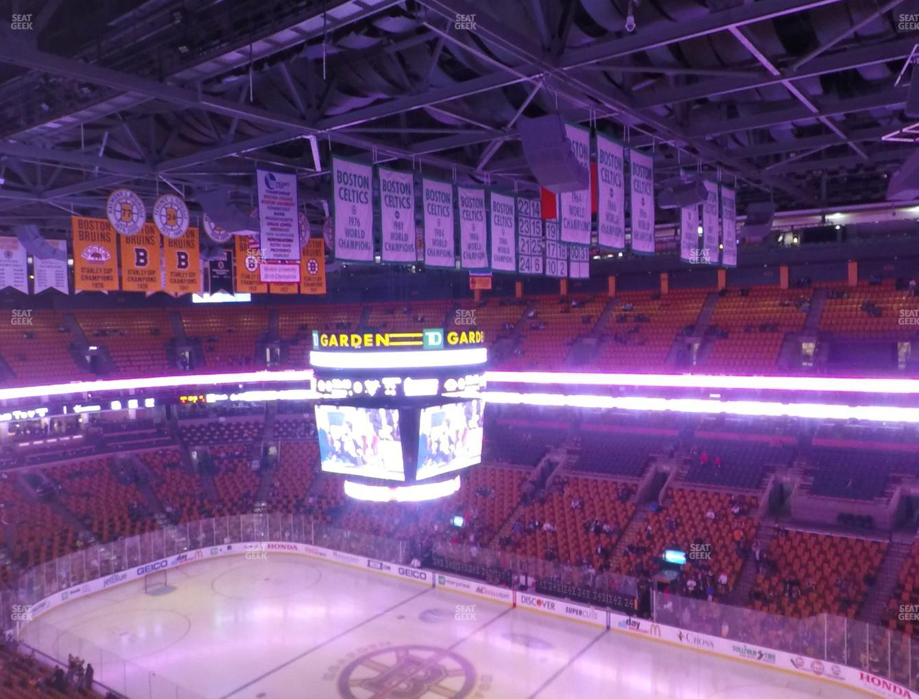 Boston Bruins at TD Garden Balcony 313 View