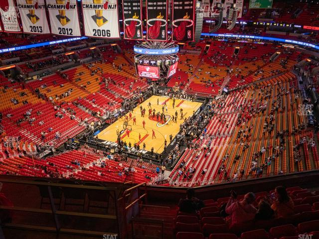 American Airlines Arena Section 413 view
