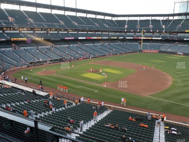Oriole Park at Camden Yards Section 216 view