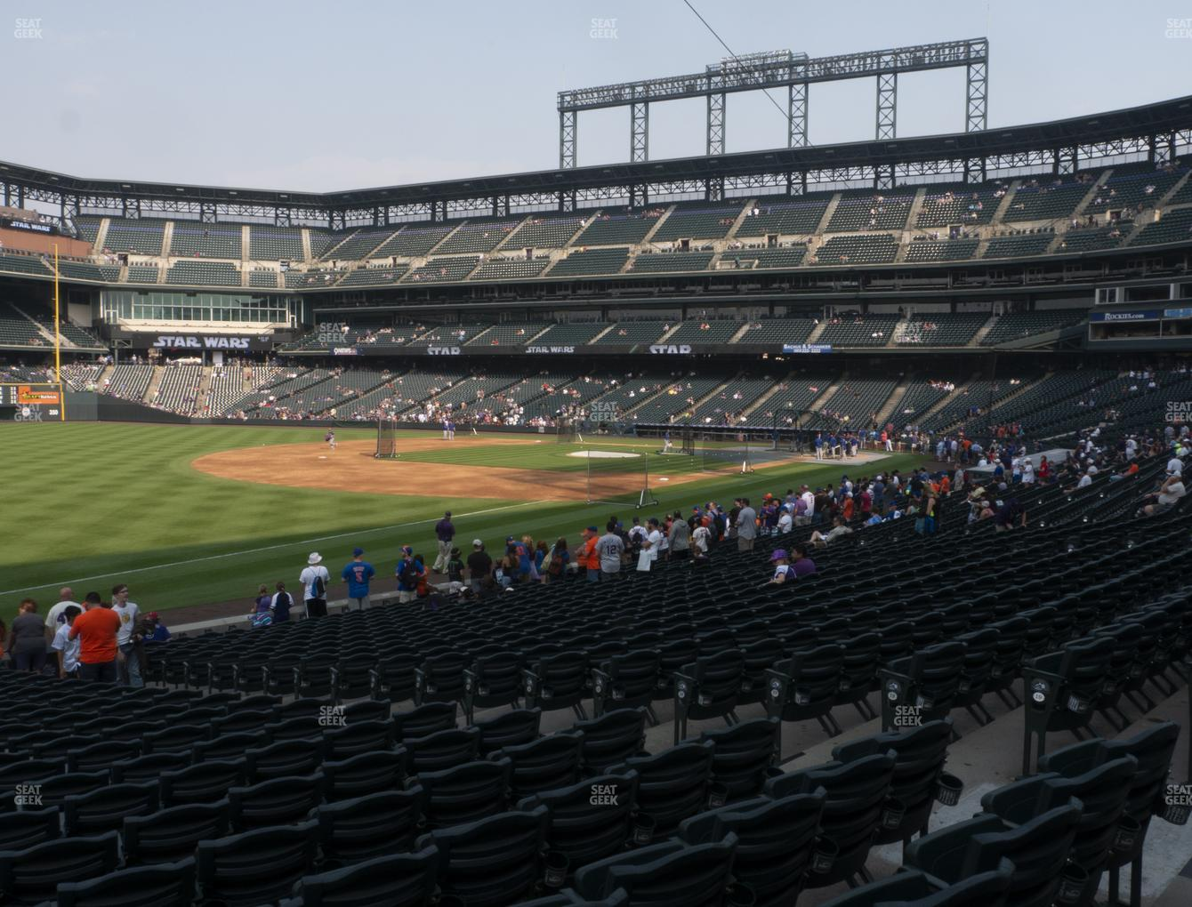 Colorado Rockies at Coors Field Section 145 View