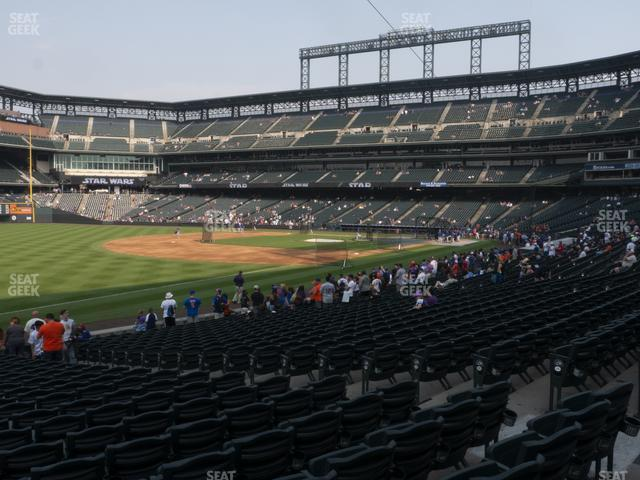 Coors Field Section 145 view