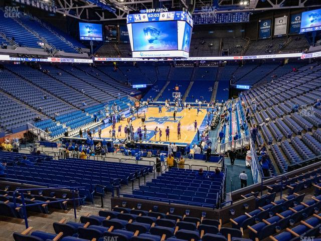 Rupp Arena Section 38 view