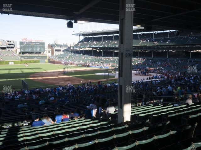 Wrigley Field Section 208 view