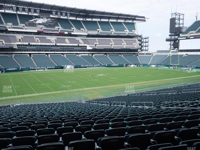 Lincoln Financial Field Section 116 view