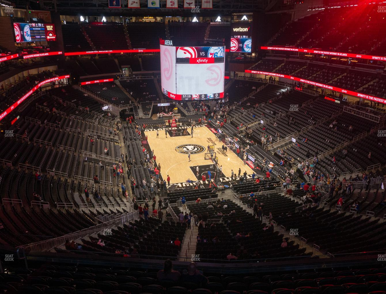 Atlanta Hawks at State Farm Arena Section 204 View