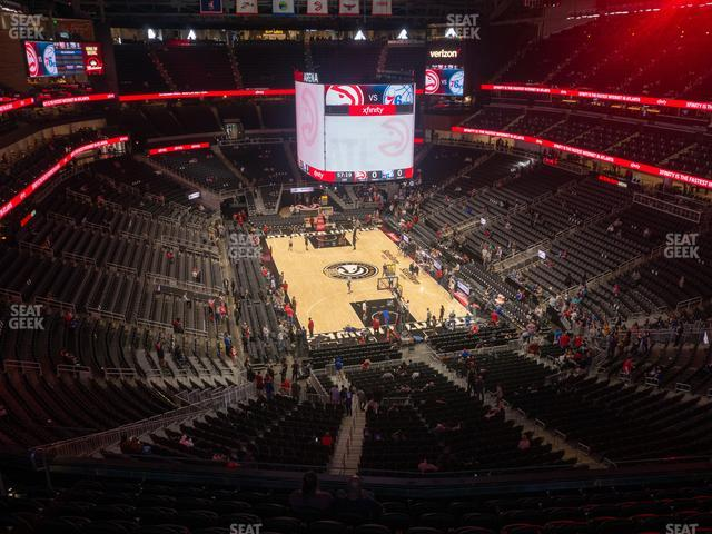 State Farm Arena Section 204 view