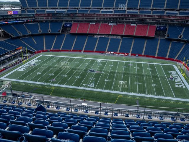 Gillette Stadium Section 308 view