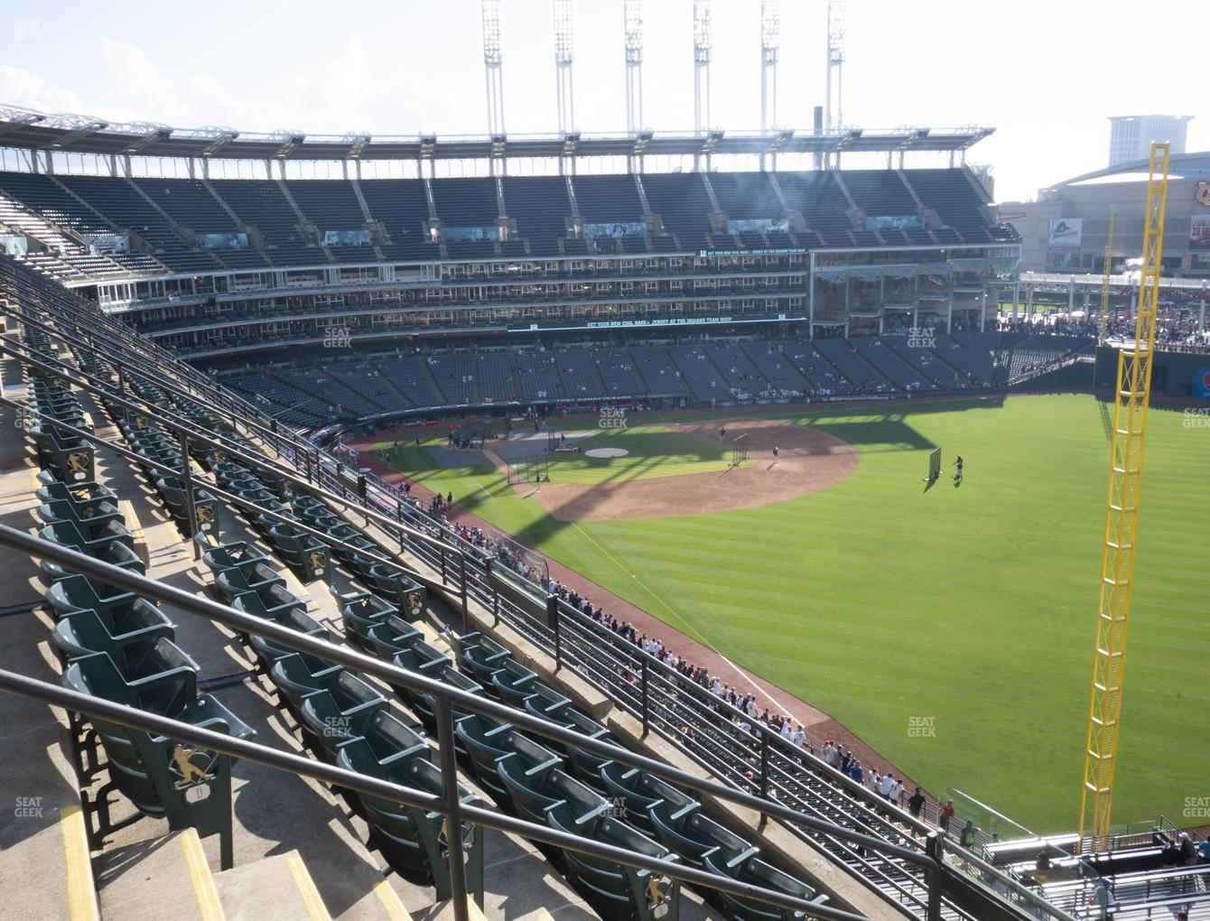 Cleveland Indians at Progressive Field Section 420 View