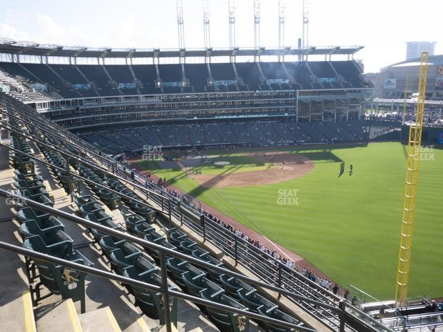 Progressive Field Section 420 view