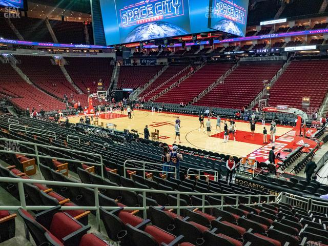 Toyota Center Section 117 view
