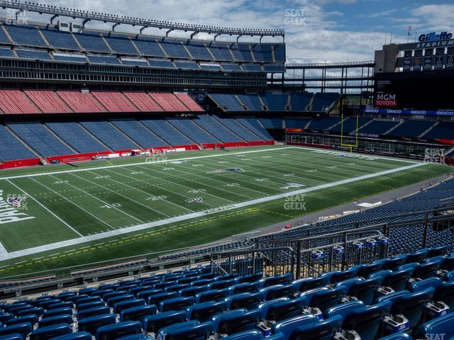 Gillette Stadium Section 236 view