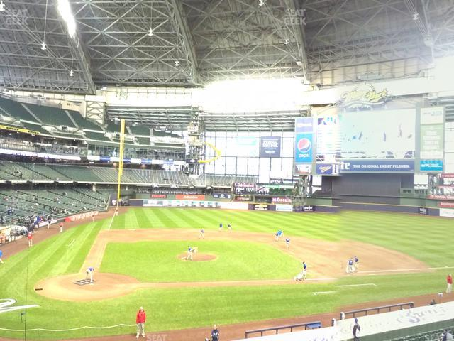 Miller Park Section 215 view