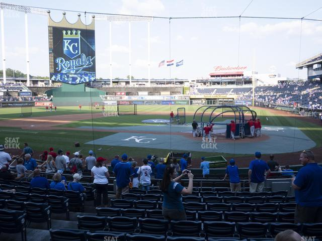 Kauffman Stadium Section 125 view