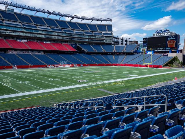 Gillette Stadium Section 114 view