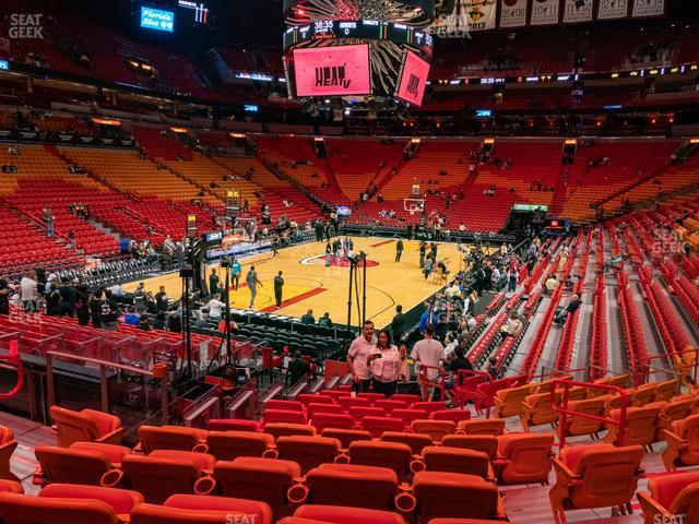 American Airlines Arena Section 123 view