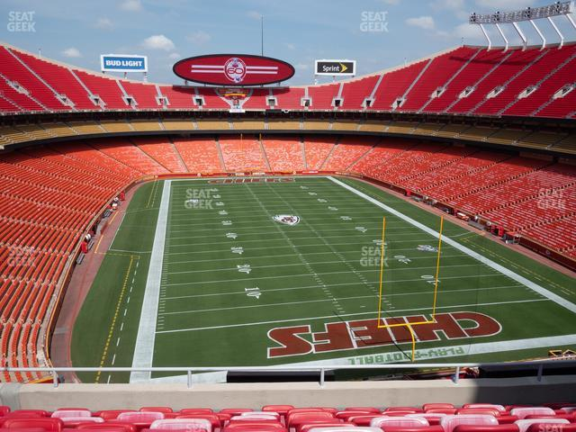 Arrowhead Stadium Section 314 view