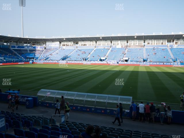 Saputo Stadium Section 104 view