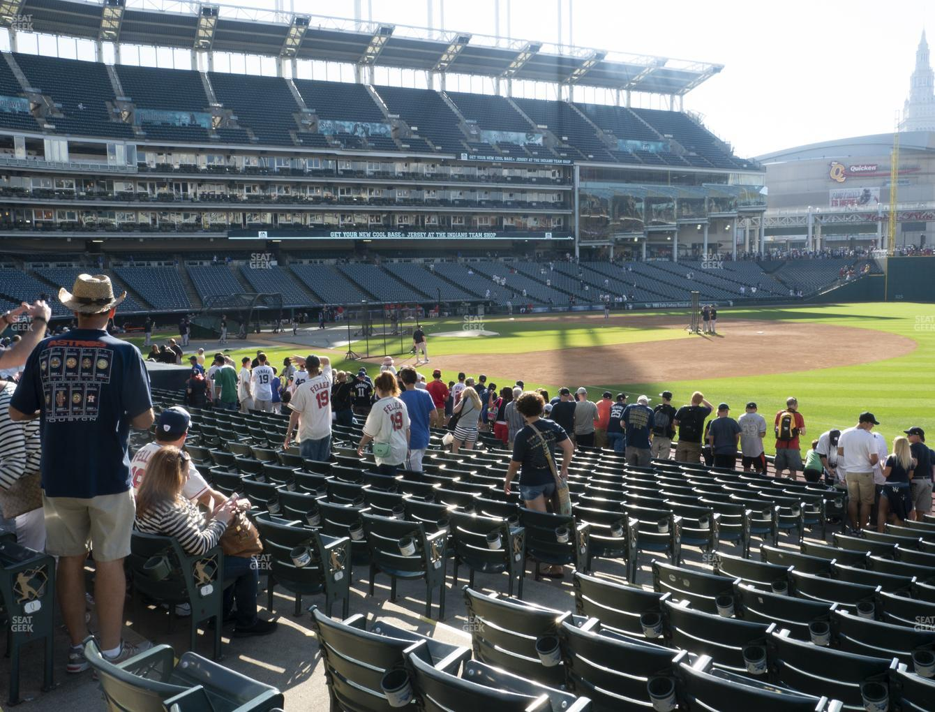 Cleveland Indians at Progressive Field Section 131 View