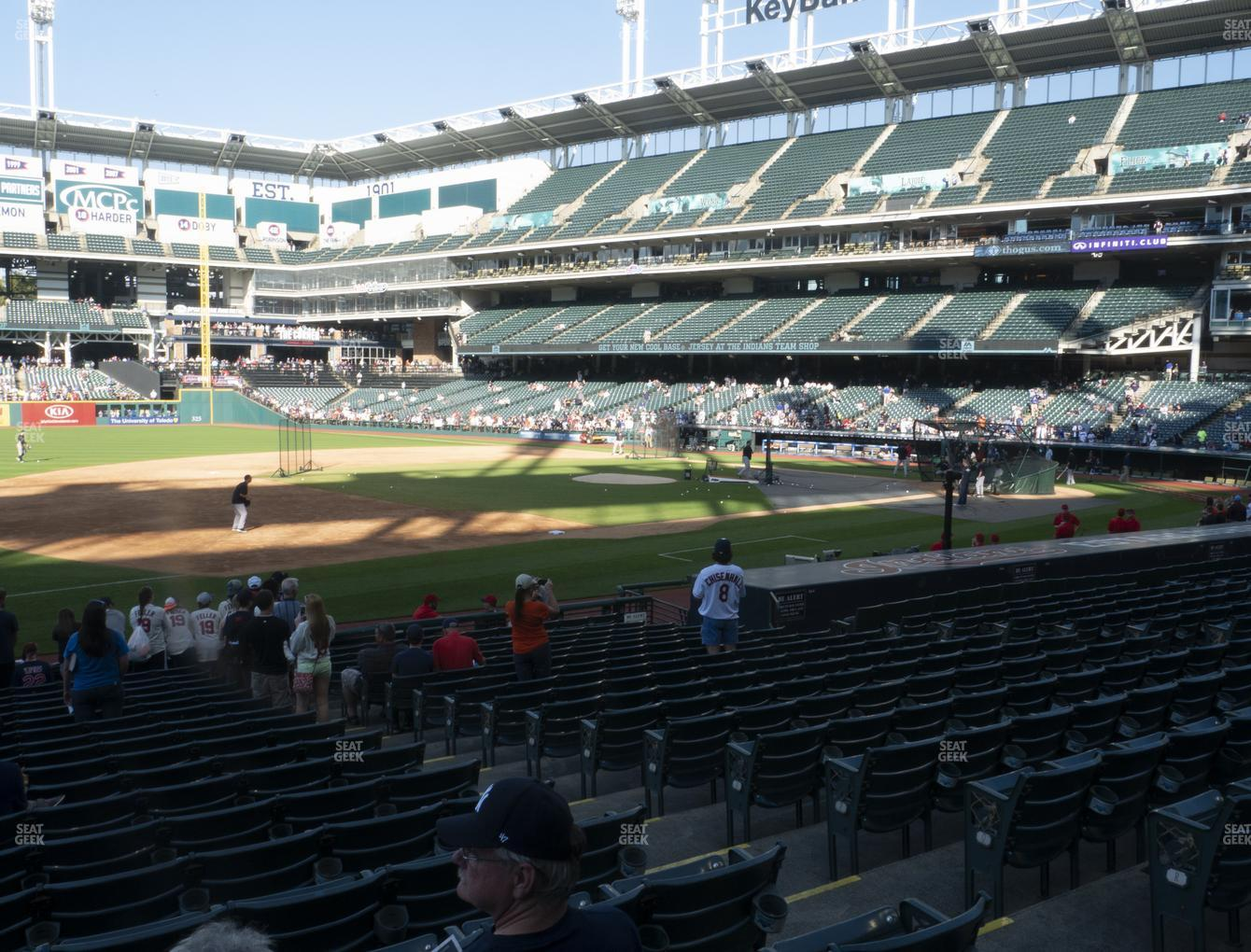 Cleveland Indians at Progressive Field Section 167 View