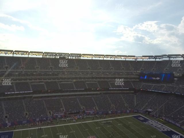 MetLife Stadium Section 316 view