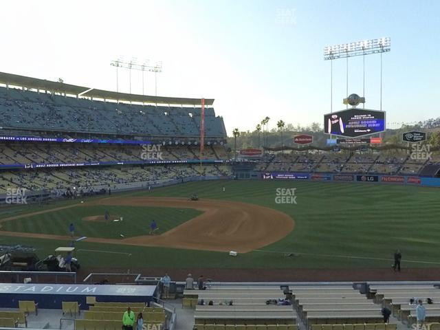 Dodger Stadium Loge Box 140 view