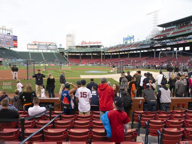 Fenway Park Field Box 59 view