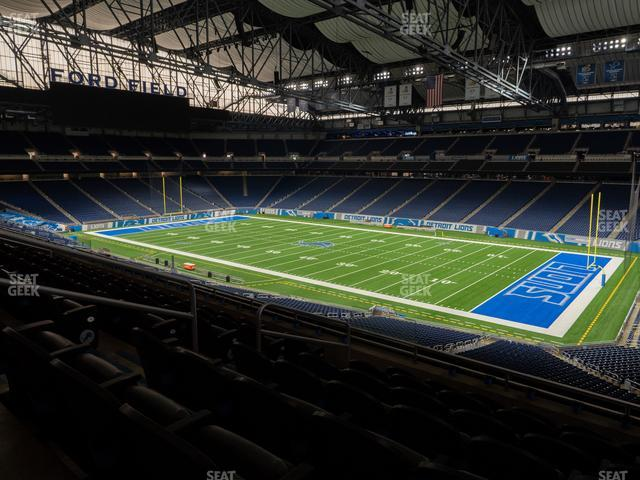 Ford Field Section Club 213 view
