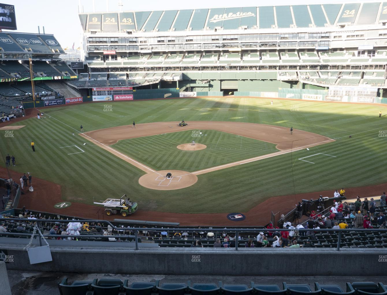 Oakland Athletics at Oakland-Alameda County Coliseum Section 216 View