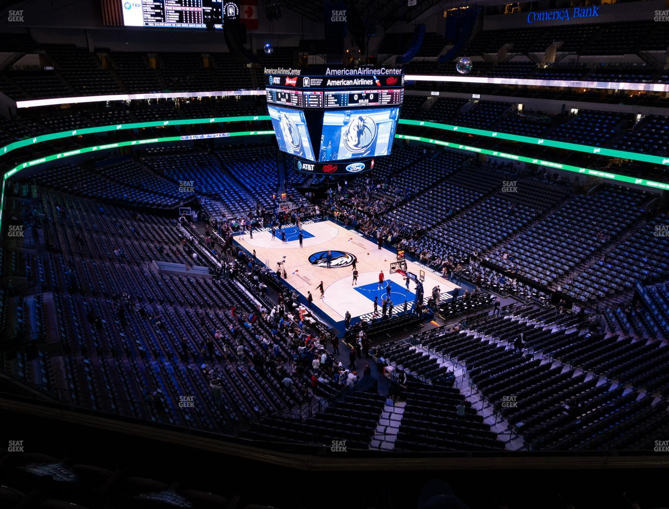Dallas Mavericks at American Airlines Center Section 321 View