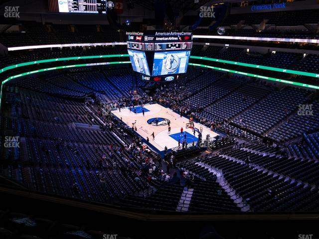 American Airlines Center Section 321 view