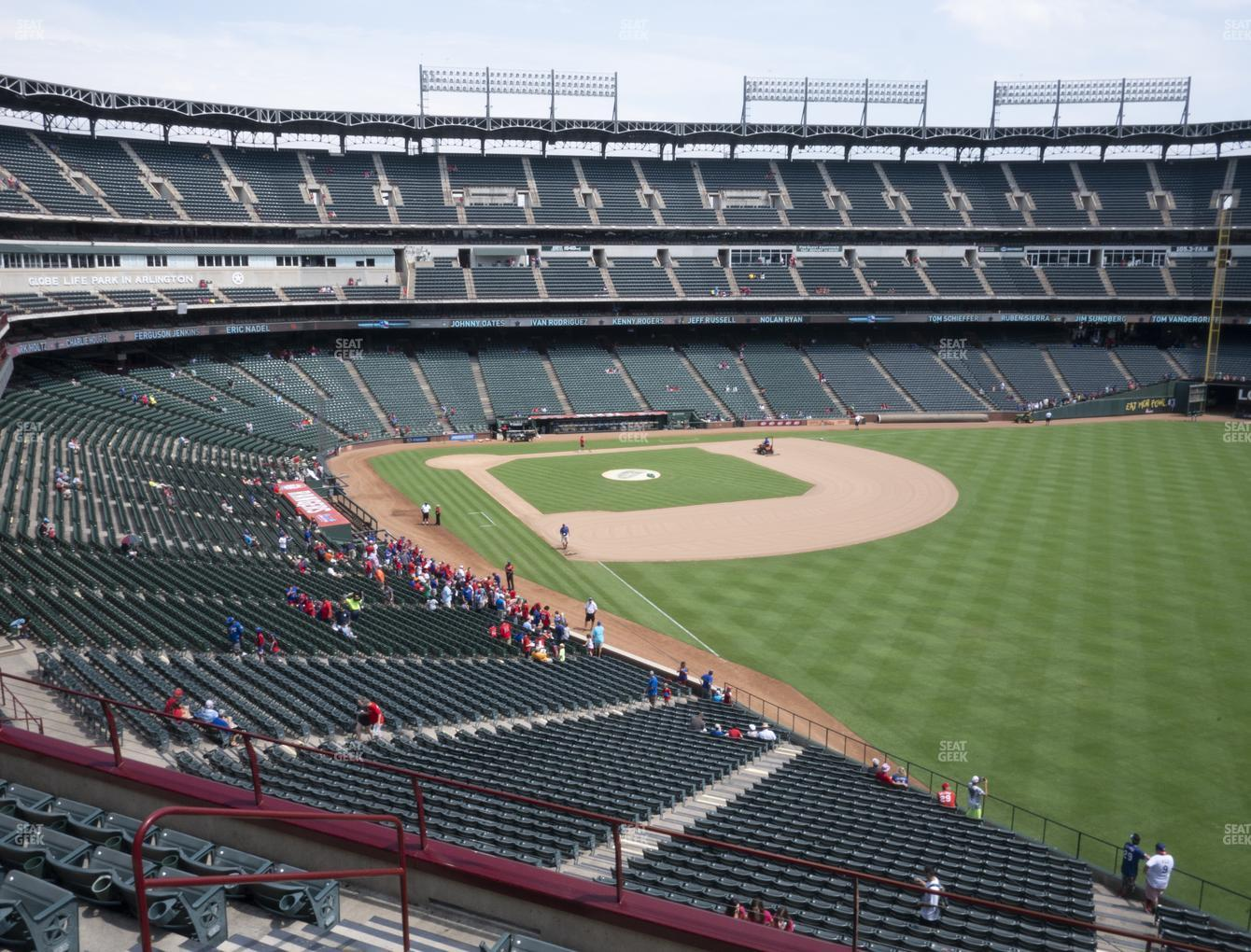 NHL at Globe Life Park Section 242 View