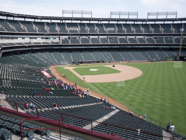 Globe Life Park Section 242 view