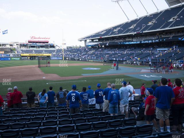 Kauffman Stadium Section 119 view