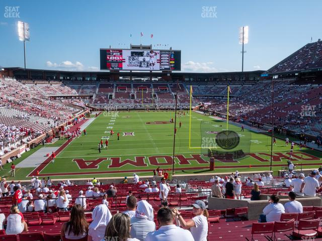 Gaylord Family Oklahoma Memorial Stadium Section 19 view