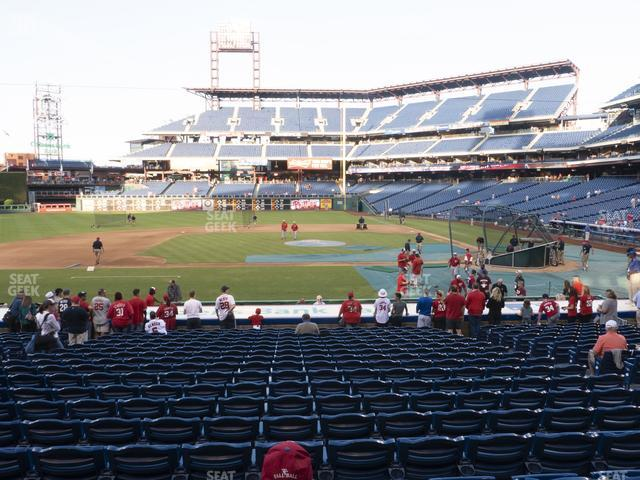 Citizens Bank Park Section 130 view