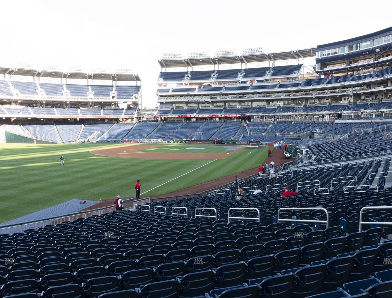 Washington Nationals at Nationals Park Section 108 View