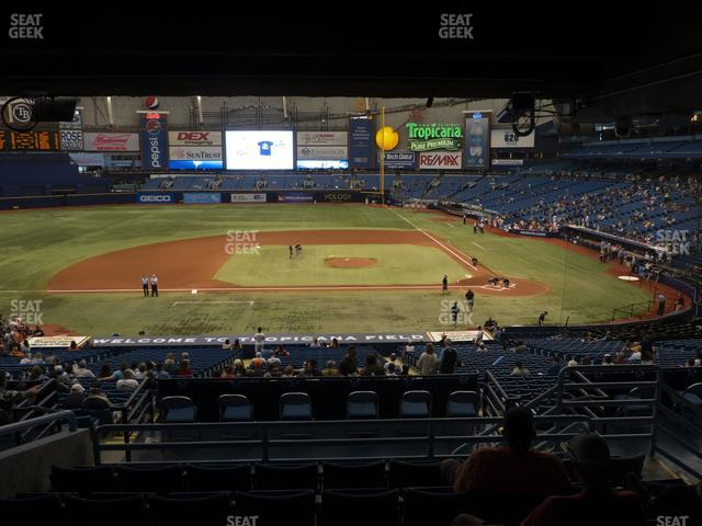 Tropicana Field Section 113 view