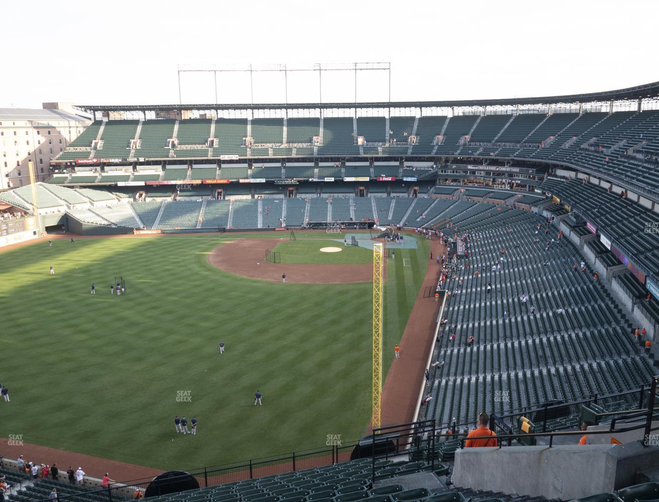 Baltimore Orioles at Oriole Park at Camden Yards Section 378 View