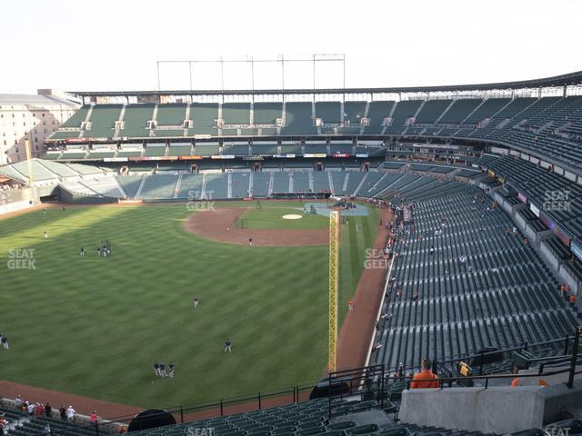 Oriole Park at Camden Yards Section 378 view