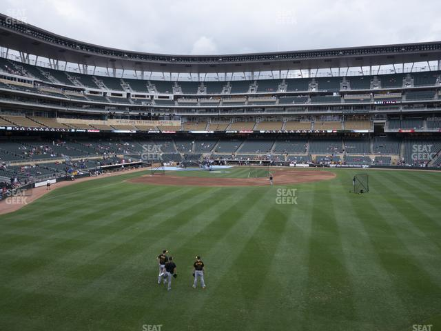 Target Field Section 135 view