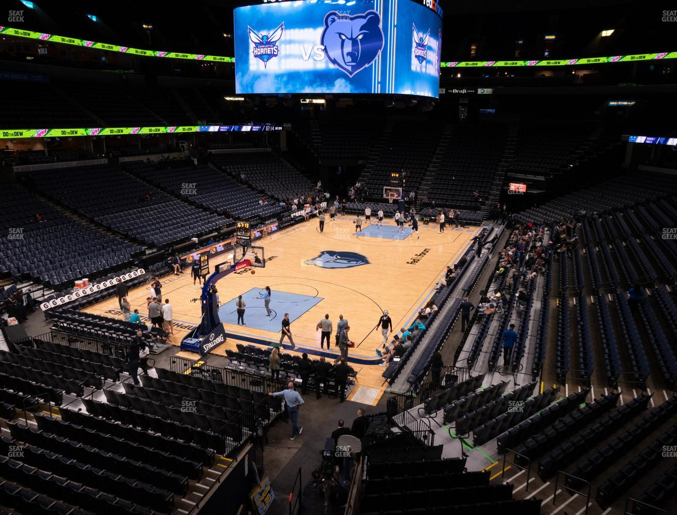 Memphis Grizzlies at FedExForum Section 111 A View