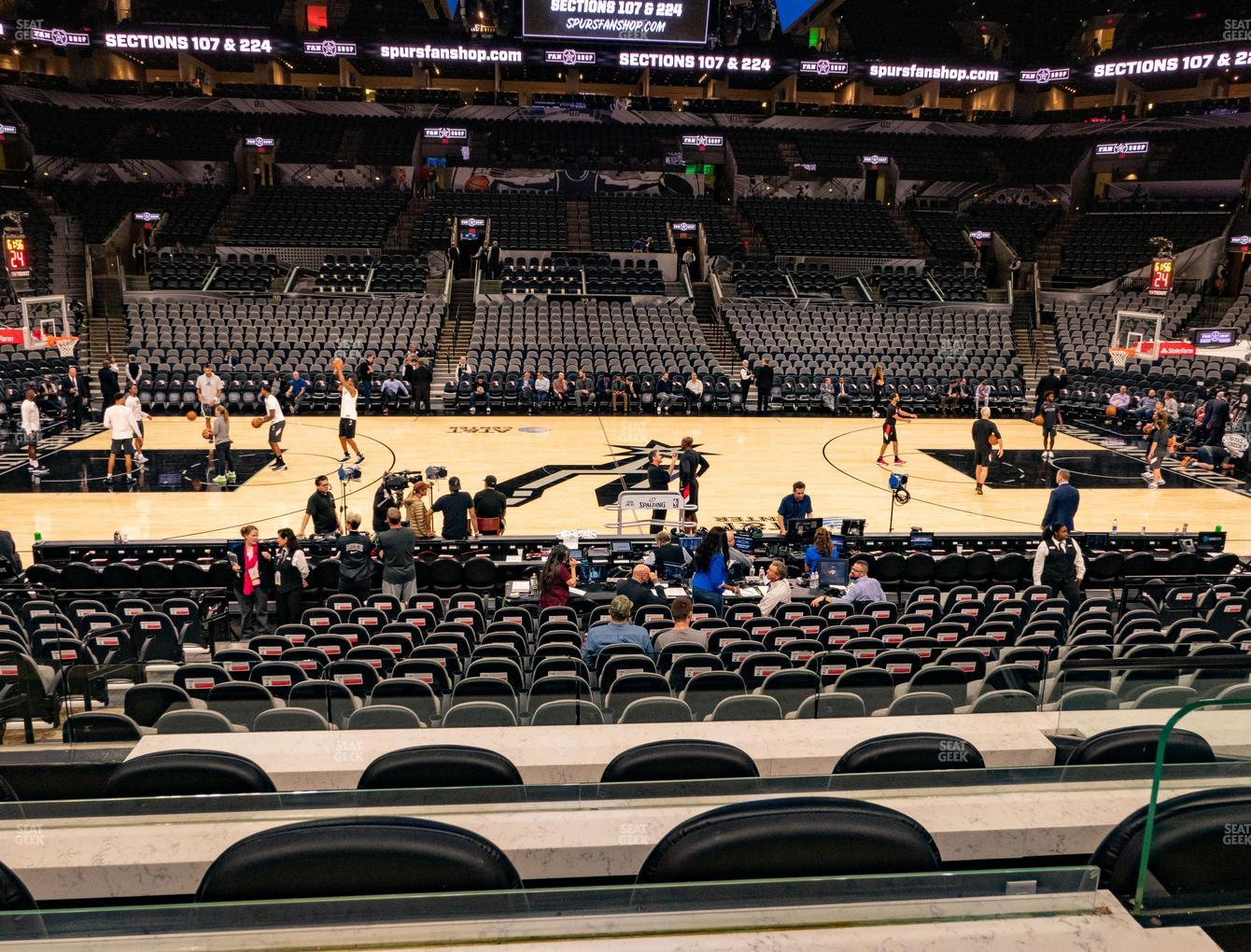 San Antonio Spurs at AT&T Center Box 13 View