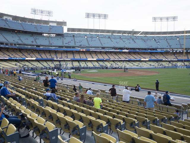 Dodger Stadium Field Box 42 view