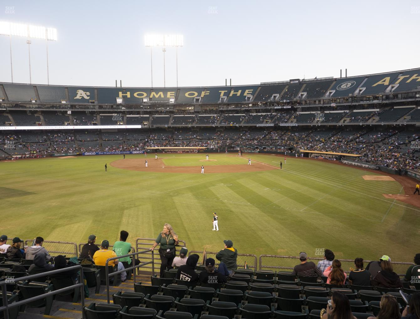 Oakland Athletics at RingCentral Coliseum Section 135 View
