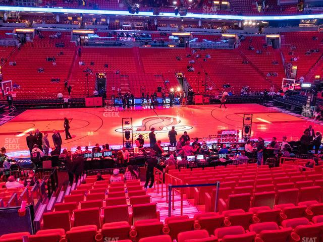 American Airlines Arena Section 107 view