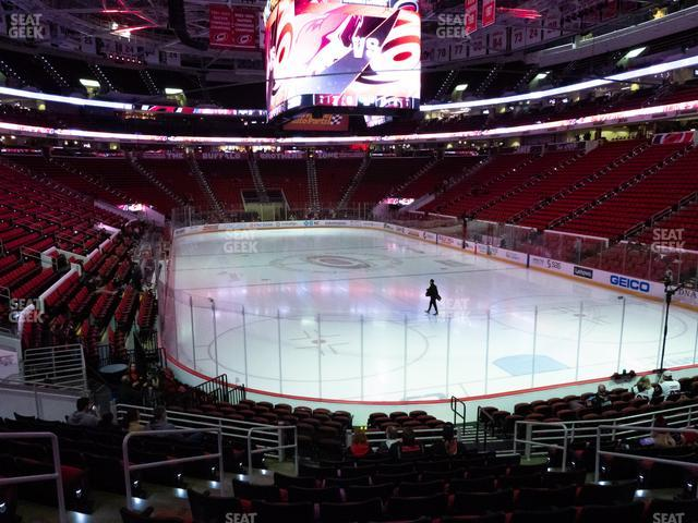 PNC Arena Section 128 view