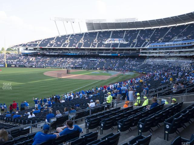 Kauffman Stadium Section 209 view