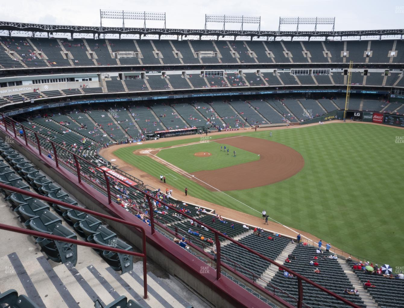 NHL at Globe Life Park Section 340 View