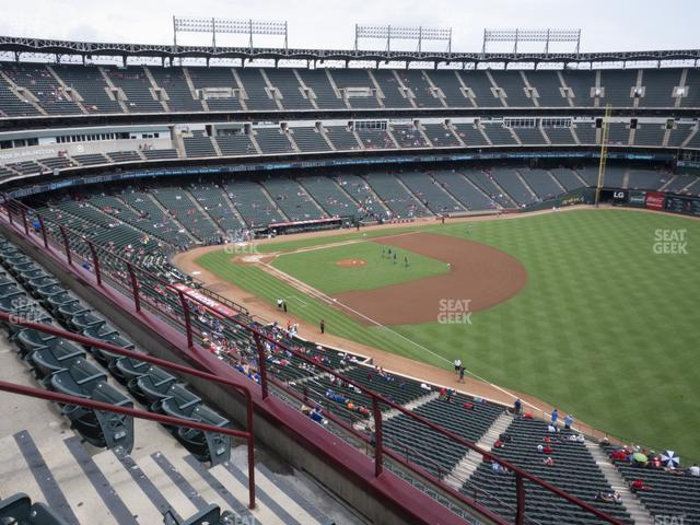 Globe Life Park Section 340 view